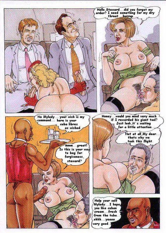 Порно стюардесса комикс