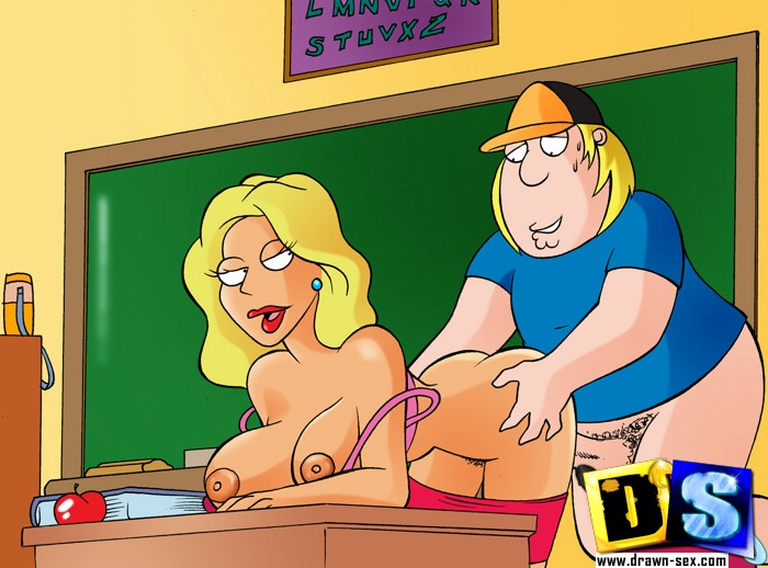 Family Guy and his relatives turn into sex junkies.