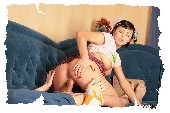 girl-massaging-her-brother