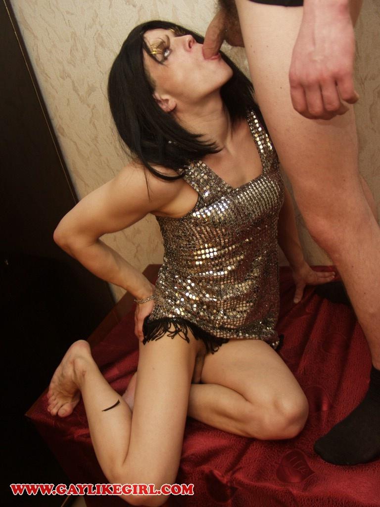 Transsexual tgirls 69 kissing