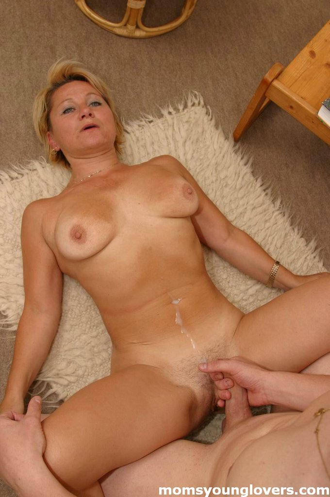 Milf Blondie Seduces A Younger Lad