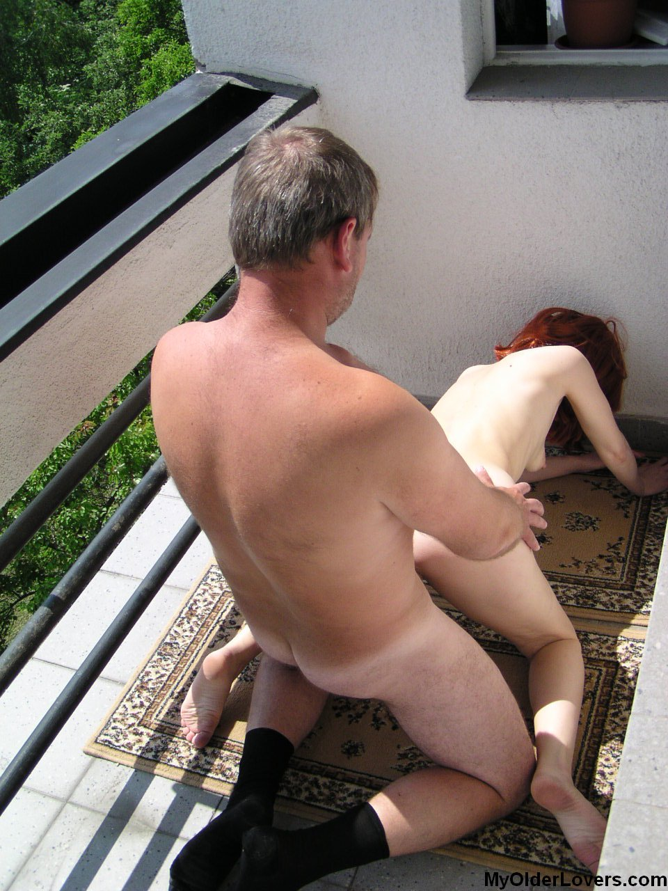 Wife fucked on balcony really