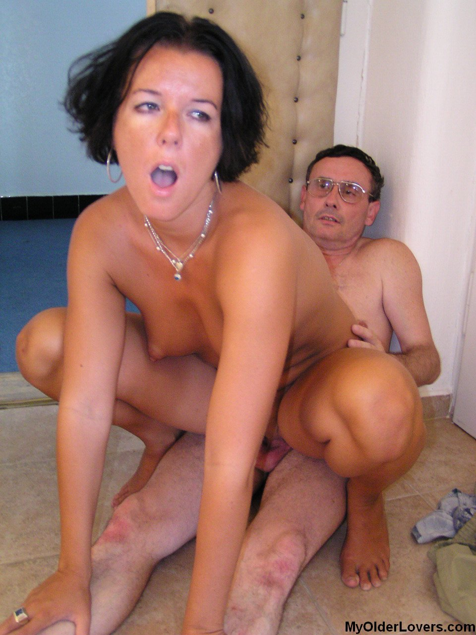 Older man fucks sweet girl.