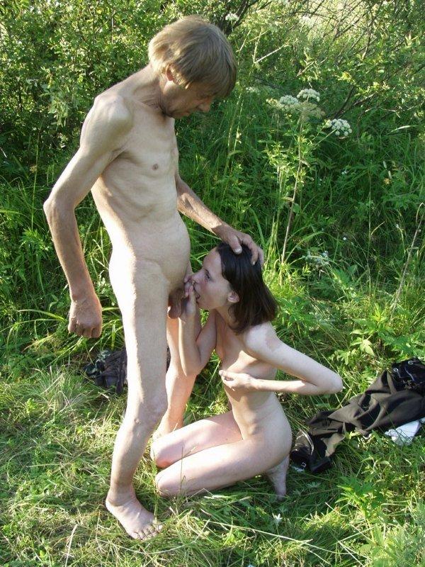 Секс с бомжихой фото