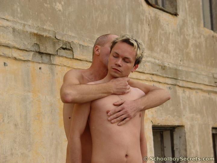 Horny gay daddy fucks deep.